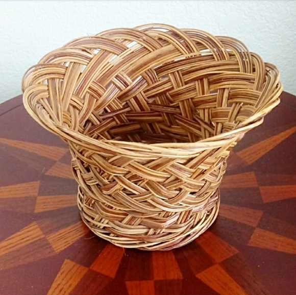 Gamjali StylHOME Other - Boho Wicker Flower Planter Basket Pot Container